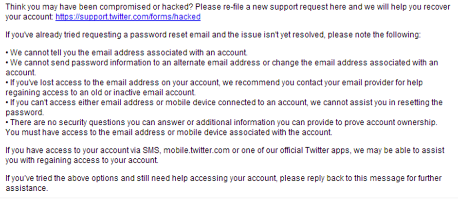 Twitter Hacked email two