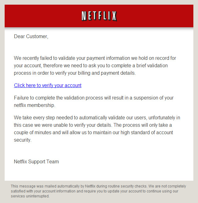 The Netflix Email